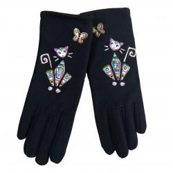 Gants chat papillon   Quand les poules auront des gants
