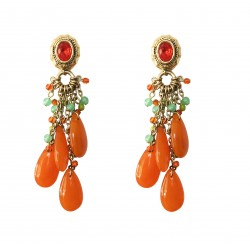 Boucles poggi  JOA 52  orange