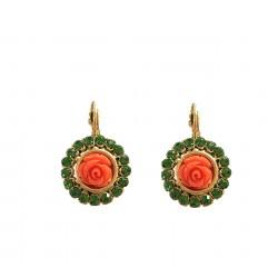 Boucles Poggi  Rose 100 vert orange