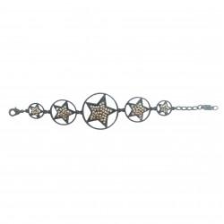 Bracelet POGGI REX 101  noir Mordoré