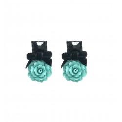 Boucles POGGI ROS 1 Noir turquoise