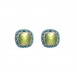 Boucles bal 1 CLIP Poggi turquoise vert