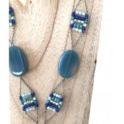 Sautoir Poggi ELF 200  Bleu Turquoise