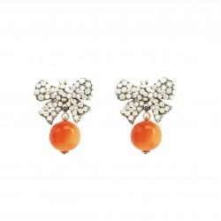 Boucles Poggi NOD42 argt Orange