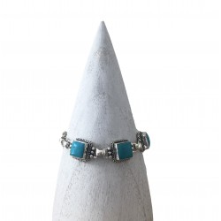 Bracelet Kota turquoise argent GM