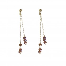 Boucles  Yuna  leabo lilas  argent