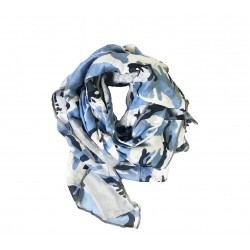 Echarpe Blui camouflage bleu